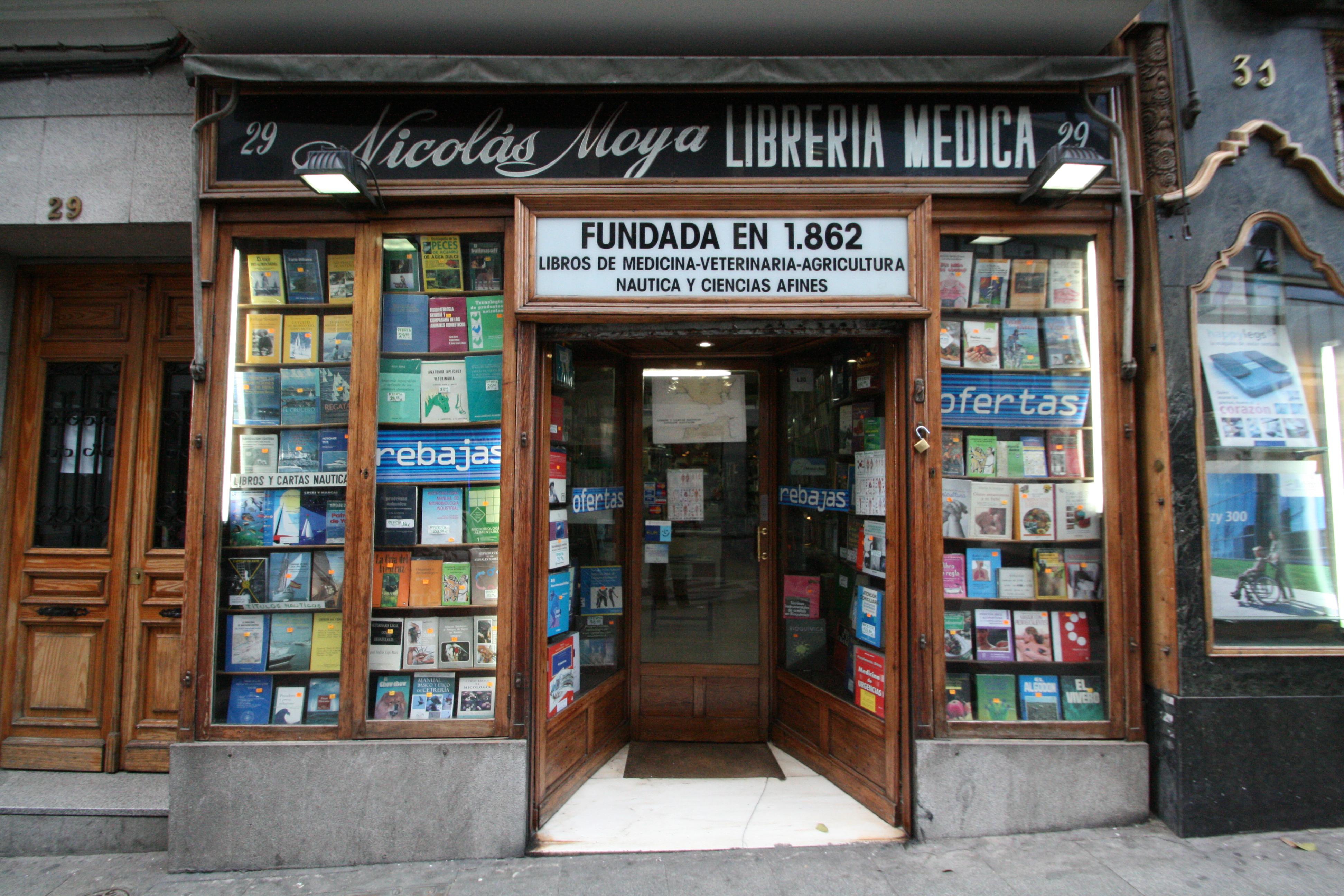 Librer a m dica nicol s moya calle carretas 29 el for Libreria puerta del sol