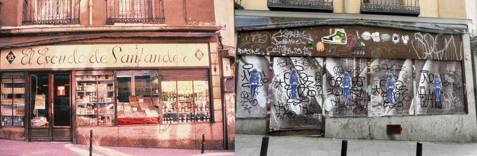 Fachadas de establecimientos antiguos desaparecidos. Reportaje de El País (1/6)