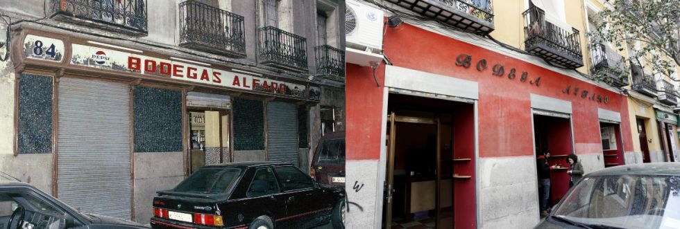 Fachadas de establecimientos antiguos desaparecidos. Reportaje de El País (2/6)