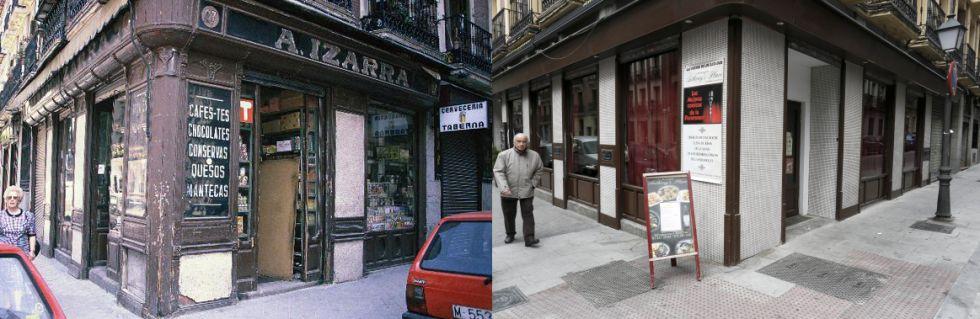 Fachadas de establecimientos antiguos desaparecidos. Reportaje de El País (3/6)