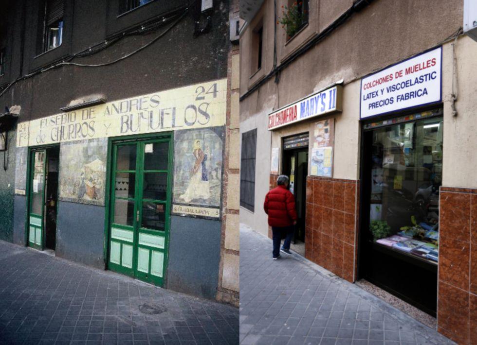 Fachadas de establecimientos antiguos desaparecidos. Reportaje de El País (4/6)