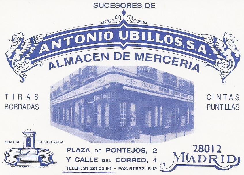 Pontejos, Sucesores de Antonio Ubillos. Plaza de Pontejos, 2. Barrio de Sol (5/6)