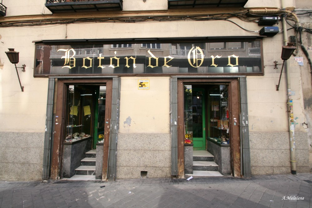 Mercería El Botón de oro. Calle de Juan de Austria, 33. Barrio de Trafalgar (3/6)